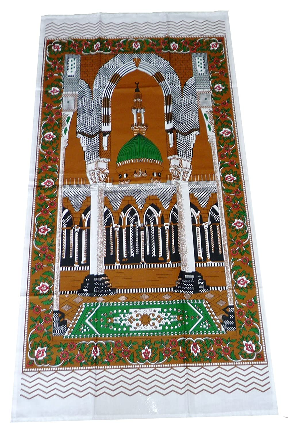 Portable Muslim Prayer Rug Islamic Thin Cloth Namaz Sajadah Camping Backpack Travel Office Sajjadah Dark Brown Thin Sajadah TSDB001