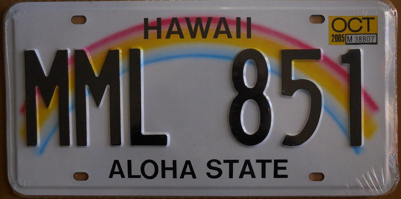 Usa Kennzeichen 31 X 16 Cm Nachdruck Hawaii Sport Freizeit