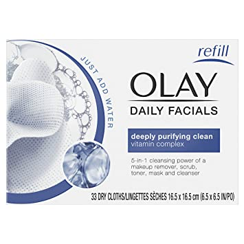 OLAY 4-in-1 Daily Facial Cloths Sensitive 33 Each (Pack of 3) Benefit - Triple Performing Facial Emulsion SPF15 PA++ Oil Free -50.3ml/1.7oz