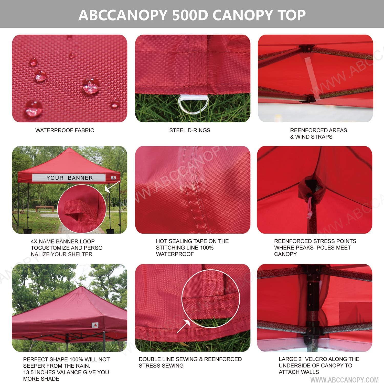 ABCCANOPY a scelta di 18 colori 100/% impermeabile Copertura di ricambio per tettoia