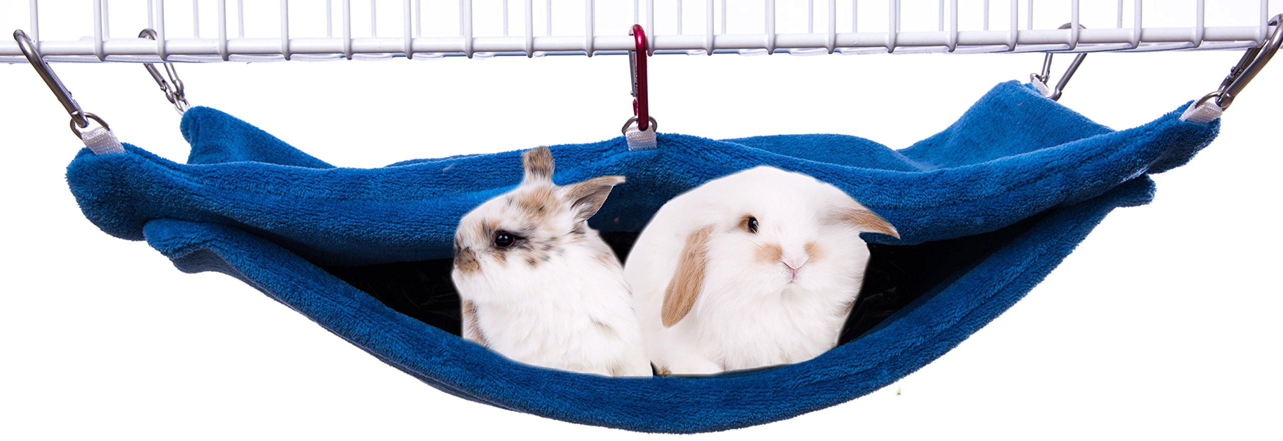 Avianweb Ferret or Bunny Pocket Hammock - Made in The USA (Powder Blue)