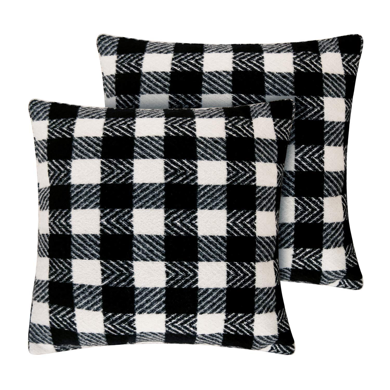Amazoncom Deconovo Black And White Retro Checkered Plaid Throw