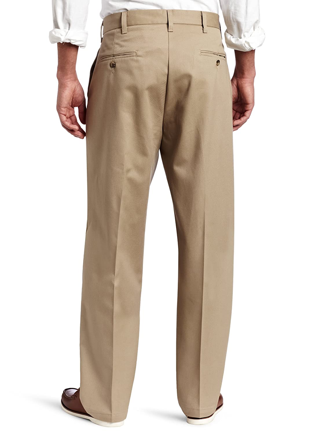 7816540c36 Lee Men's No-Iron Relaxed-Fit Flat-Front Pant at Amazon Men's Clothing  store: