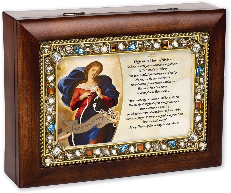 素晴らしい Virgin Mother Mother Maryウォールナット木製仕上げJeweled蓋ジュエリー音楽ボックスPlays Tune Ave Ave Maria Maria B016QW6TKK, セキガネチョウ:1827498a --- arcego.dominiotemporario.com