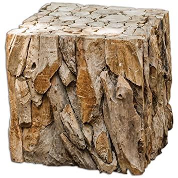 Uttermost Teakholz Wurzel Ballung Cube Tisch Traditionell 185 L X