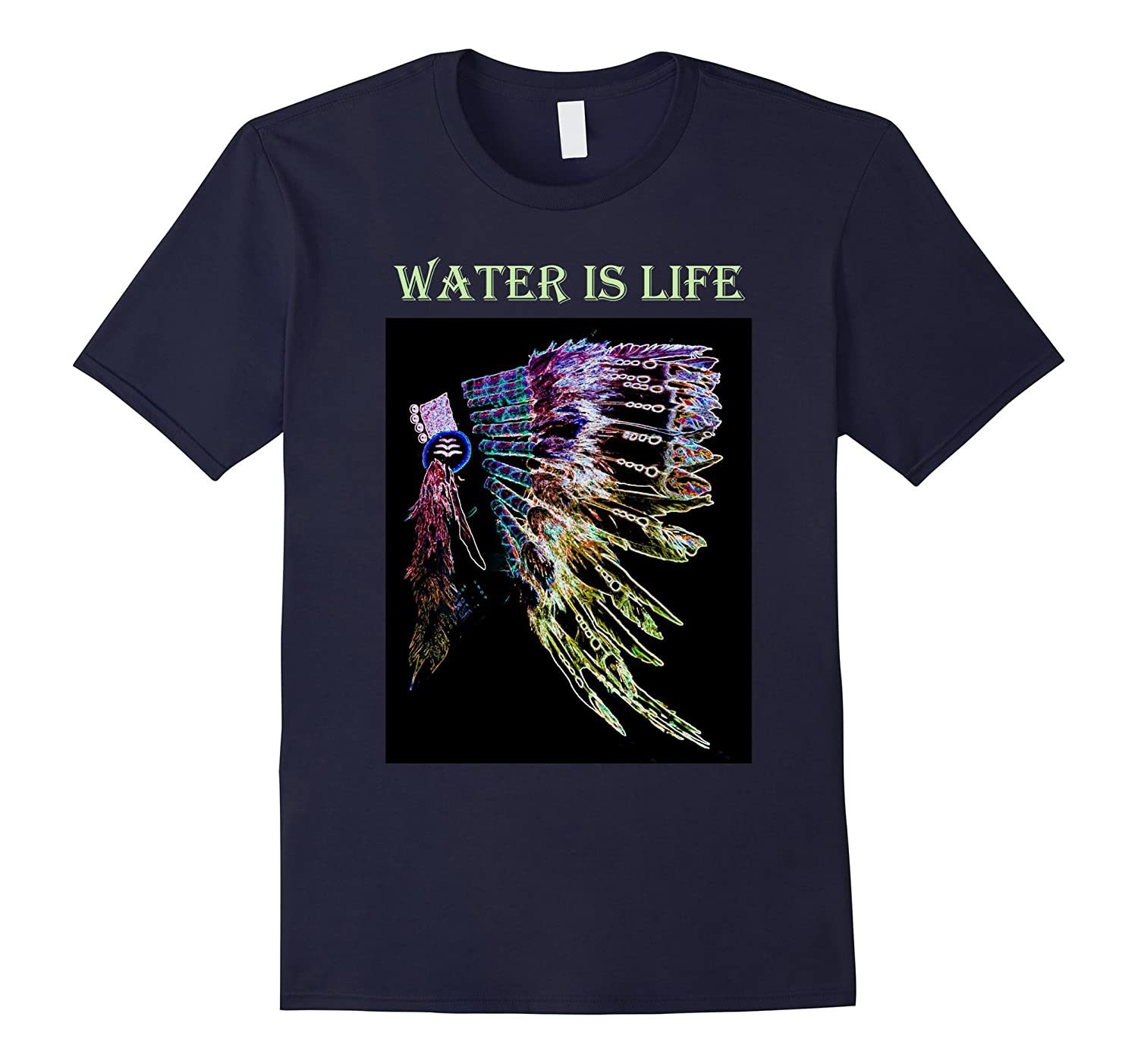 Water is Life I Stand with Standing Rock T-Shirt-CD