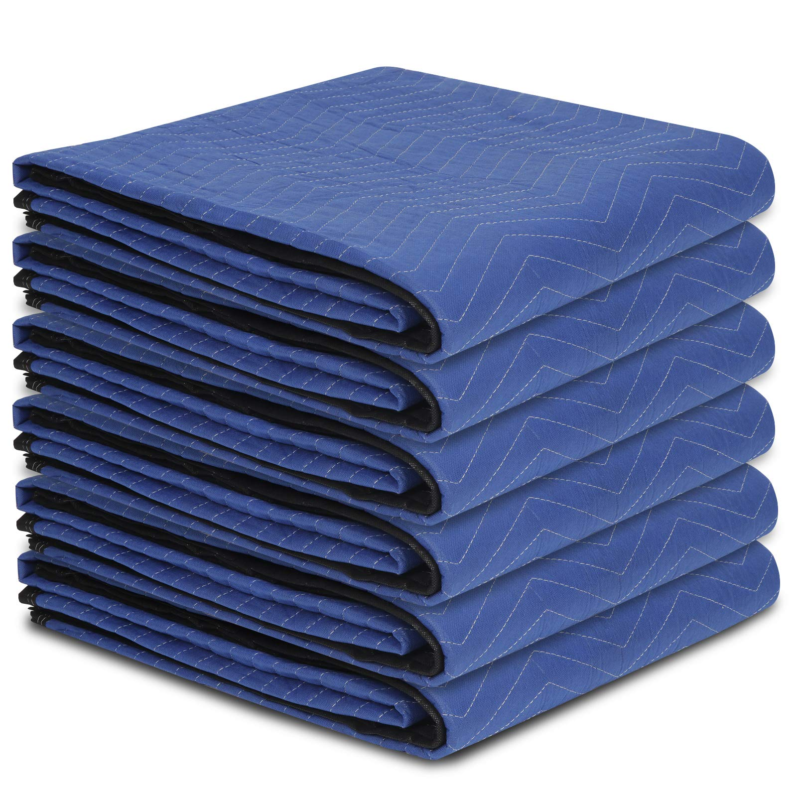 """F2C Mover Moving Blankets Pro Economy Thick 80""""x 72"""" Moving Packing Blankets Skins Pack of 12 Total 35Lbs/ Doz, Blue by F2C (Image #2)"""