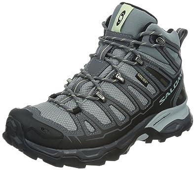 lowest price e27d9 5410e Salomon X Ultra Mid Gore-TEX Waterproof Women's Trail Walking Boots Grey