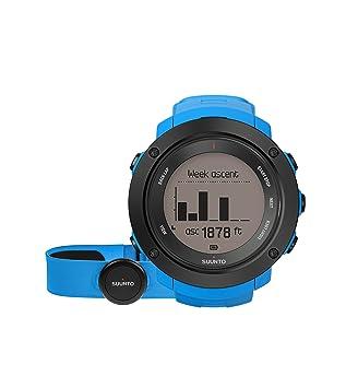 25a6f607b222 Suunto - Ambit3 Vertical HR - SS021968000 - Reloj GPS Multideporte +  Cinturón de frecuencia cardiaca (Talla M) - Ideal para montaña - Azul   Amazon.es  ...