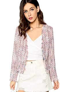 0688e48ba cupcakes and cashmere Women's Gregory Tweed Blazer at Amazon Women's ...