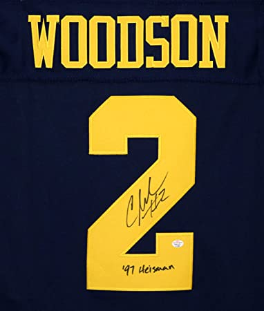 finest selection 07981 19522 Charles Woodson Michigan Signed Autographed Blue #2 Jersey ...