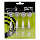 Dayton Audio DSS3-SN Satin Nickel Speaker Spike Set