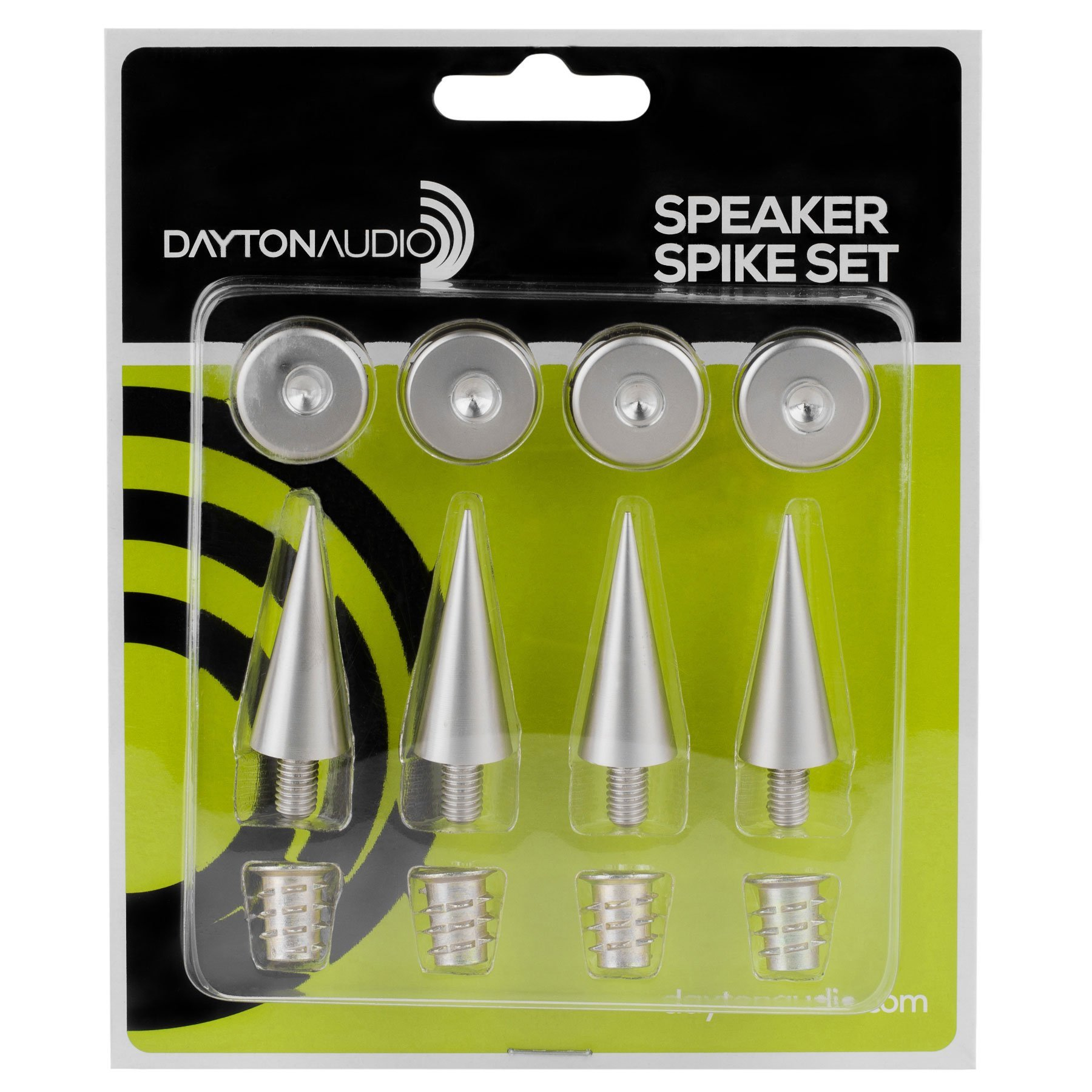 Dayton Audio DSS3-SN Satin Nickel Speaker Spike Set 4 Pcs. by Dayton Audio
