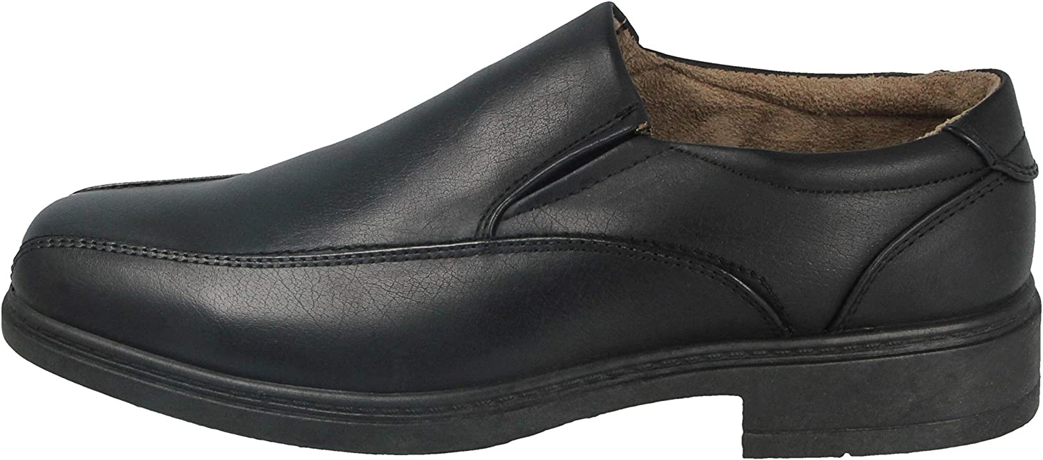 Mens Black Faux Leather PU Lace Up Slip On Square Toe Smart Office Work School Shoes Loafers Size 6-12