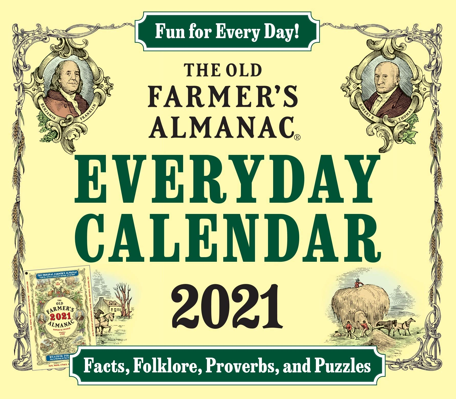 Farmers Almanac Calendar 2021 Amazon.com: The 2021 Old Farmer's Almanac Everday Calendar