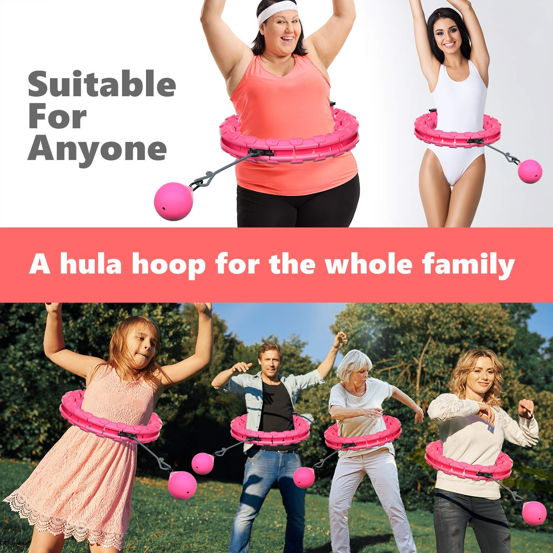 Rosa + Bola de inercia MOSRACY Hula Hoop Fitness Masaje de neum/áticos Hula Hoop no Deja Caer artefacto de p/érdida de Peso de Yoga Hula Hoop Equipo Deportivo Adecuado para Adultos y ni/ños