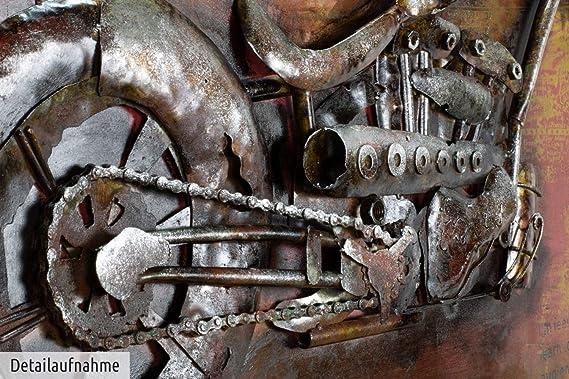 Kunstloft Extravagante Relieve de Pared de Metal Outlaw Bike ...