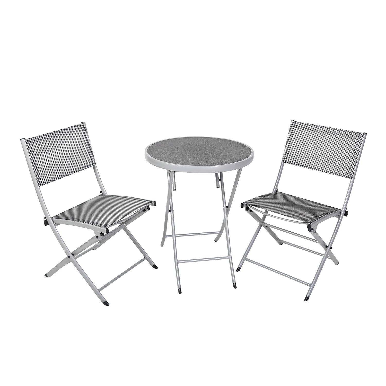 Balkon Sitzgruppe Balkonset Sitzgruppe Tisch Stühle Gartentisch Gartenstuhl Alu Textilene