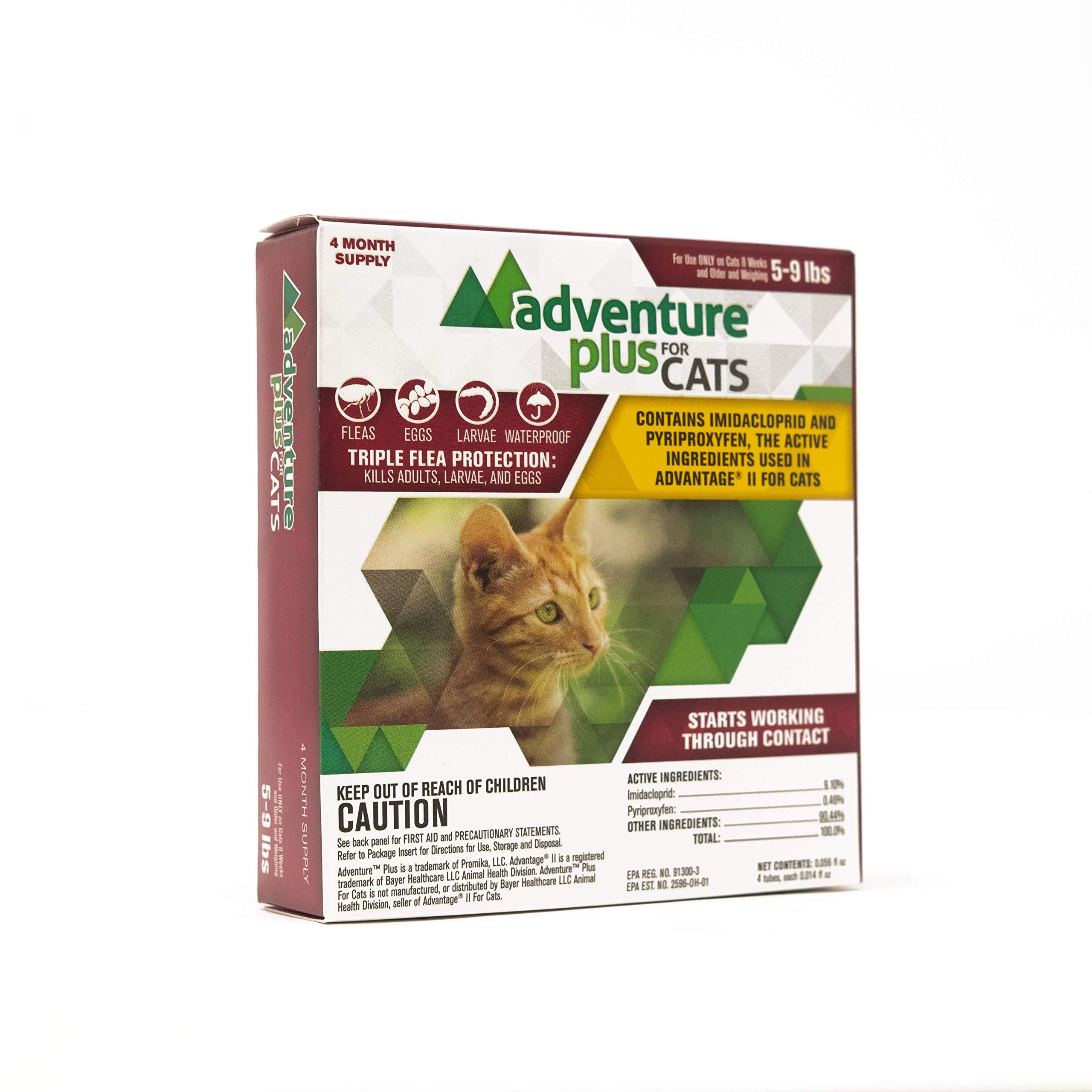 Adventure Plus Triple Flea Protection for Cats, 5-9 lbs, 8 Months, 8 Doses by ADVENTURE PLUS FOR CATS
