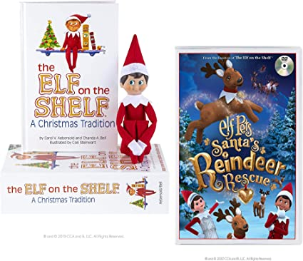 The Elf on the Shelf A Christmas Tradition an Arctic Fox Tradition Blue Eyed Boy with Elf Pets
