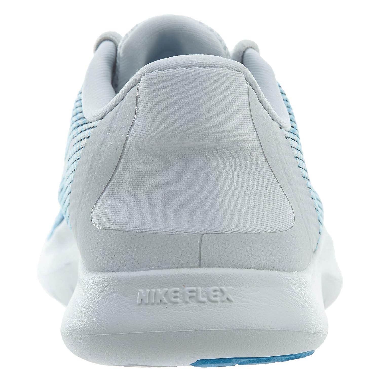 NIKE Women's Flex RN 2018 Running Shoe B075ZY6S14 5.5 B(M) US|Pure Platinum/White-equator Blue