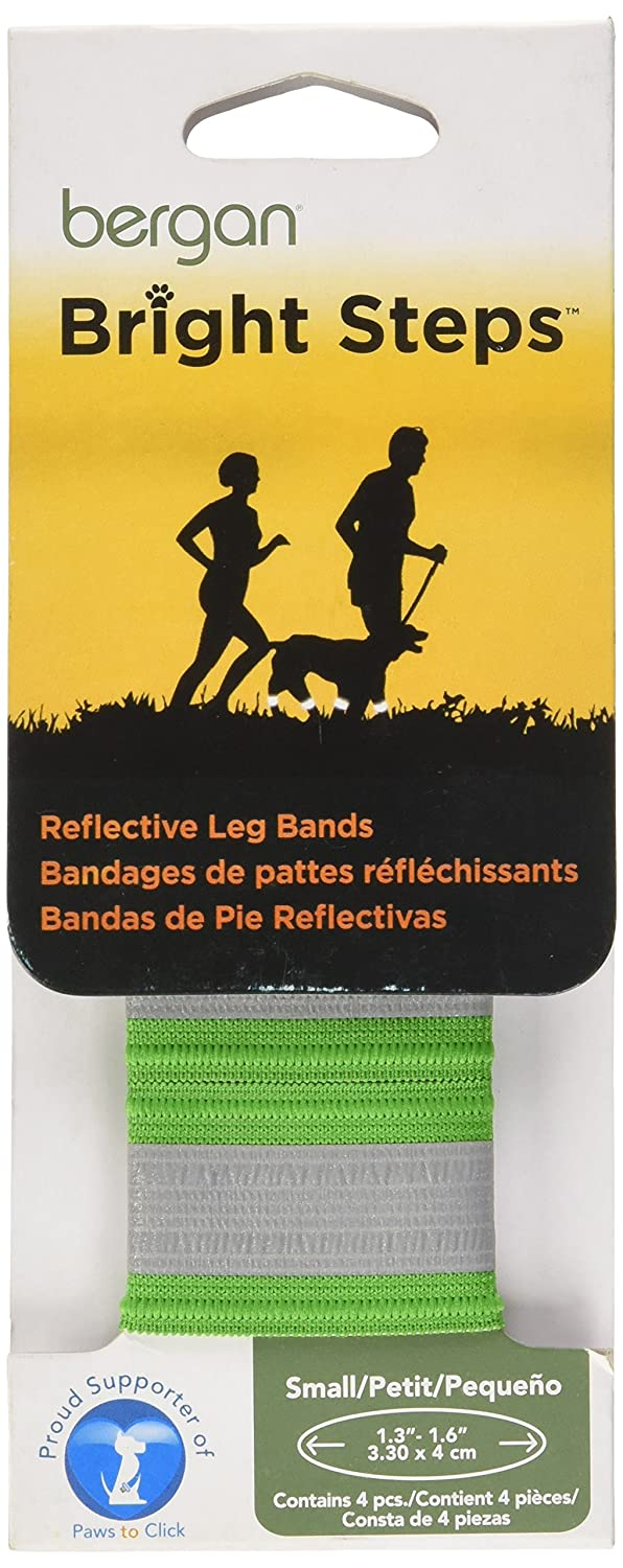 Amazon.com : Bergan Bright Steps Reflective Leg Bands for Dogs, Small, Green : Pet Training And Behavioral Aids : Pet Supplies