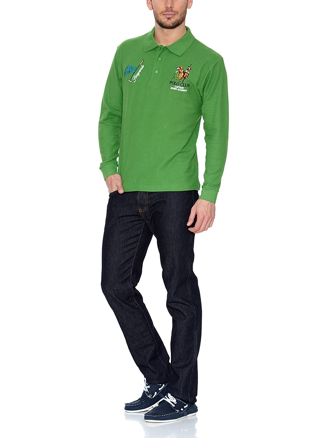 POLO CLUB Captain Horse Academy Polo Sotogrande Verde S: Amazon.es ...