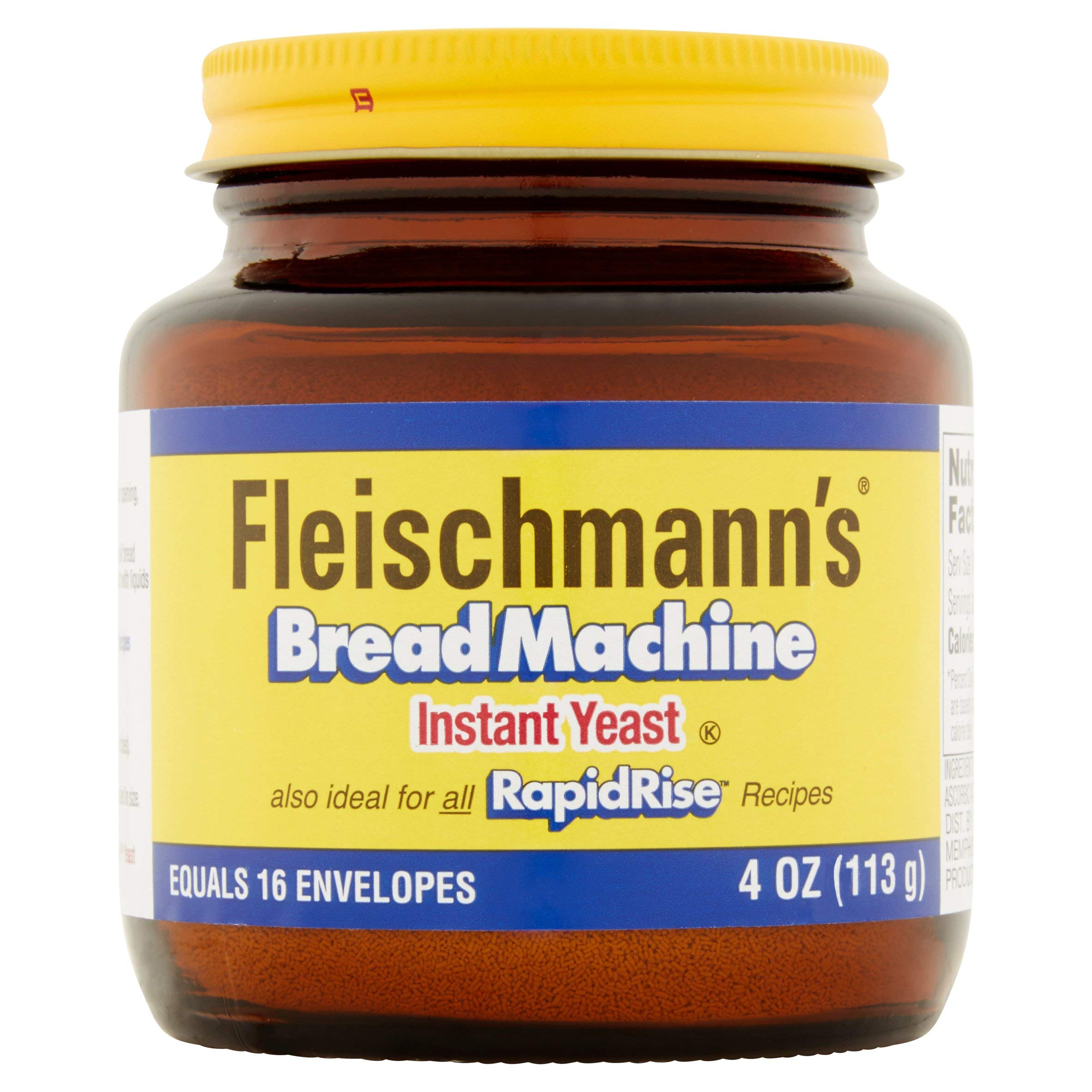 Fleischmann's Yeast for Bread Machines, 4-ounce Jars, (Pack of 3)