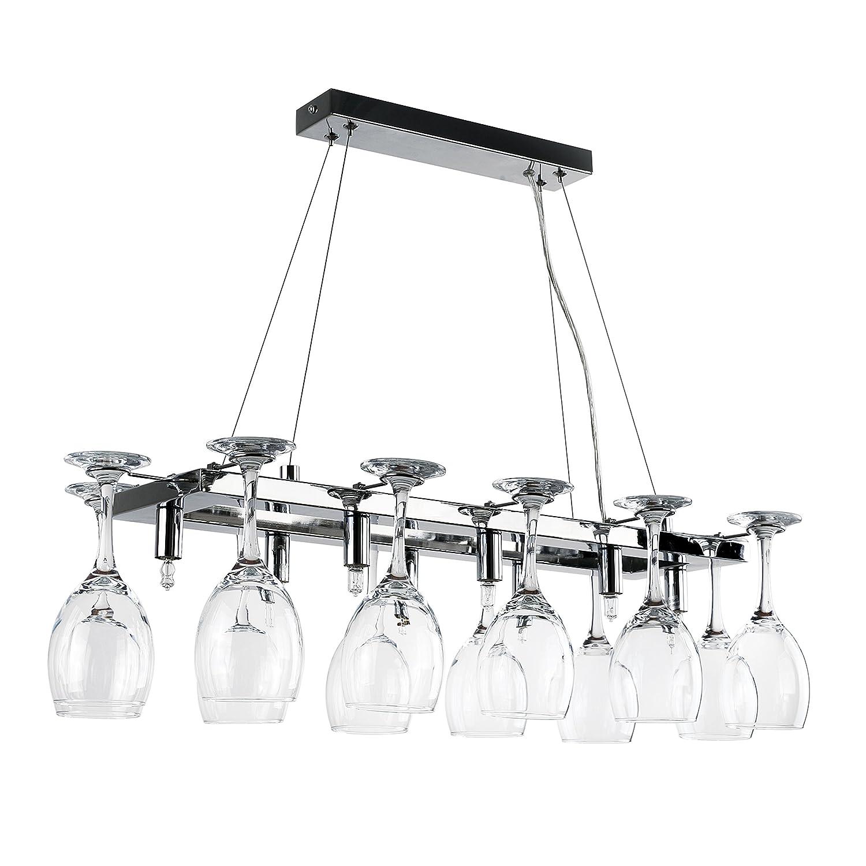 Searchlight Vino 10 Light wine glass chandelier 14 wine glasses
