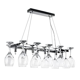 Elegant Designer 8 Way Adjustable Suspension Over Table Polished Chrome Drop Down Dining Room Kitchen