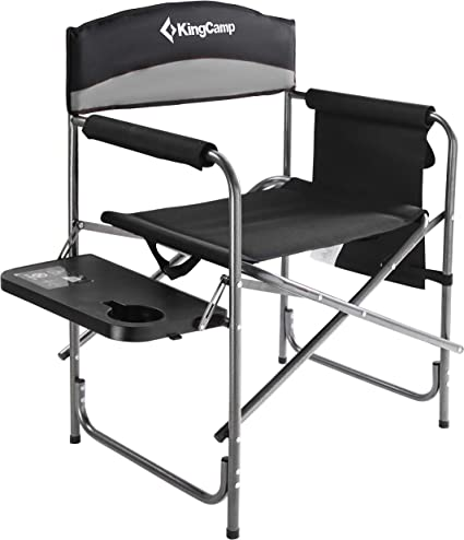 Picnic Plus Directors Sport Chair with Folding Side Table /& Side Panel Pockets
