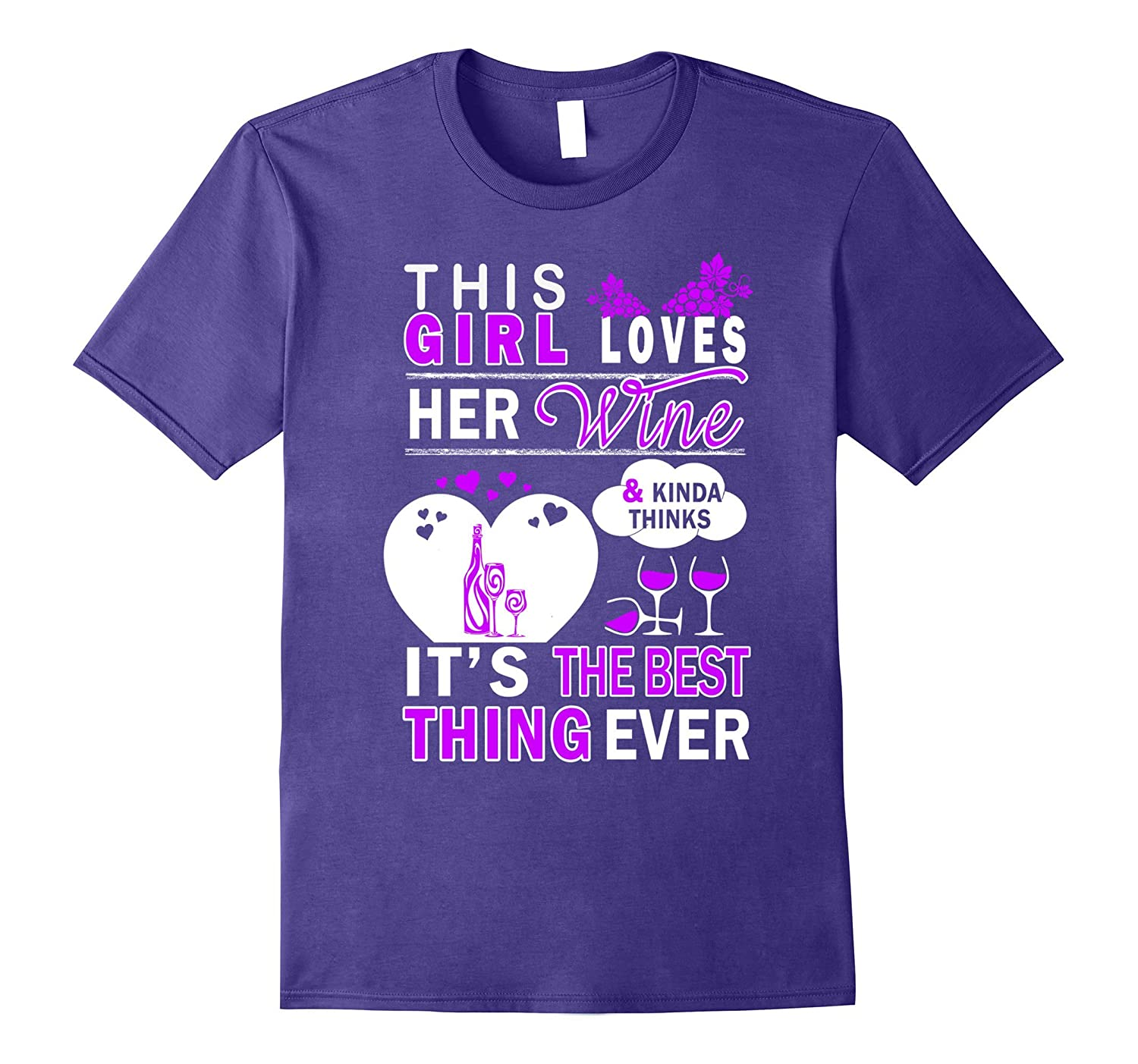 This Girl Loves Her Wine Funny Wine Tee Shirt-ANZ