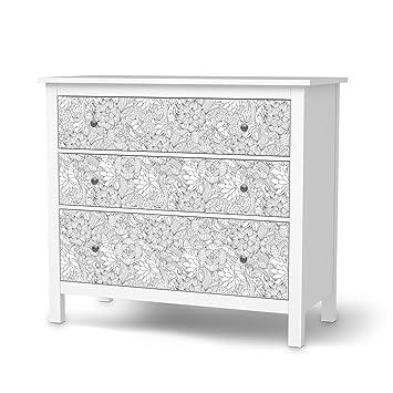 Creatisto Möbelfolie Selbstklebend Für IKEA Hemnes Kommode 3 Schubladen    Dekoraufkleber Design Möbel Folie Sticker