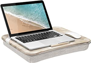 LapGear Heritage Lap Desk with Device Ledge - White Wash - Fits up to 17.3 Inch Laptops - Style No. 45611