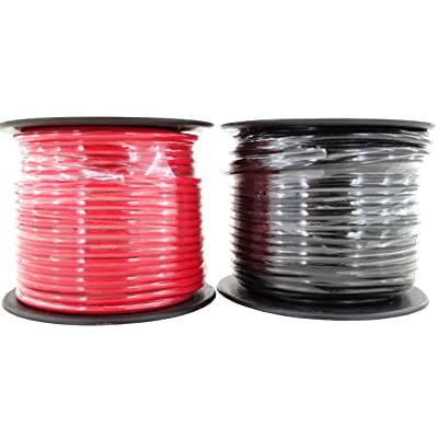 14 Gauge Copper Clad Aluminum CCA Flexible Low Voltage Primary Wire in 100 ft Roll Red Black Combo (200 Feet Total) for Car Audio Video 12 Volt Trailer Harness Wiring (Also Available in 16 Guage): Automotive