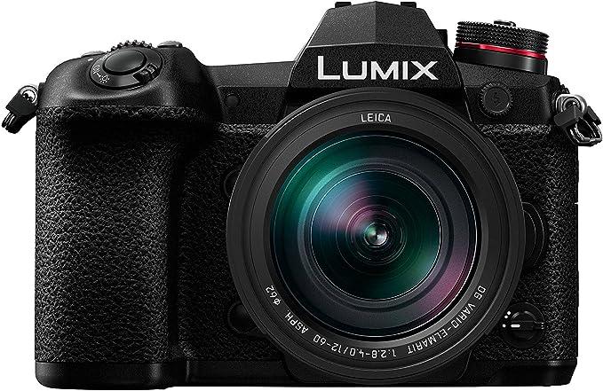Panasonic Lumix Appareil photo Hybride Pro Photo DC-G9LEF-K +LEICA 12-60 F2.8-4.0 (Capteur 4/3 20MP, Double stab., Viseur OLED, Écran orient. tact., 4K60p, Tropicalisé) Noir – Version Française
