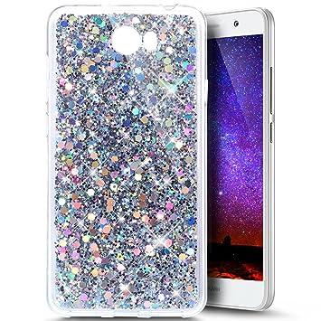 Huawei Y5 II Case,Huawei Y6 II Compact Case,Huawei Y5 II Glitter  Case,Ukayfe Luxury Sparkle Bling Case Cover for Huawei Y5 II / Huawei Y6 II  Compact,