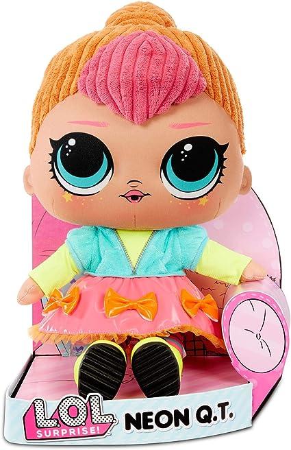 Amazon.com: L.O.L. Surprise! Neon Q.T. – Huggable, Soft Plush Doll: Toys & Games