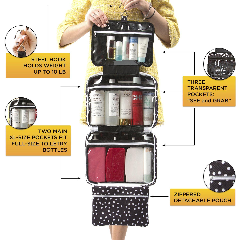 Amazoncom Large Versatile Travel Cosmetic Bag  Perfect Hanging Travel