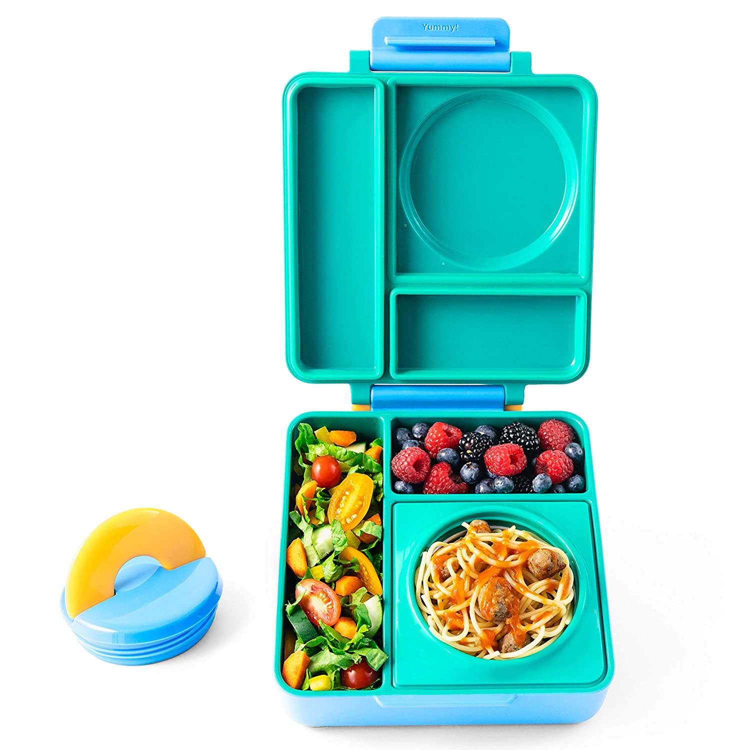 OmieBox Bento Lunch Box With Insulated Thermos For Kids, Meadow OmieLife B9099