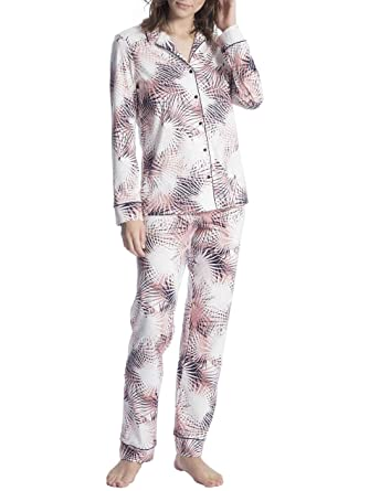 hot sale online 1d014 b71e4 Calida Cosy Flowers Pyjama durchgeknöpft Damen: Amazon.de ...