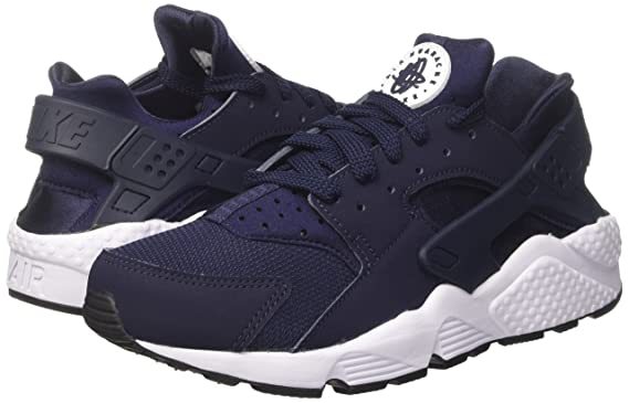 12b772d9bf8ed Amazon.com   318429-413  NIKE AIR HUARACHE OBSIDIAN BLACK WHITE SNEAKERS   Sports   Outdoors