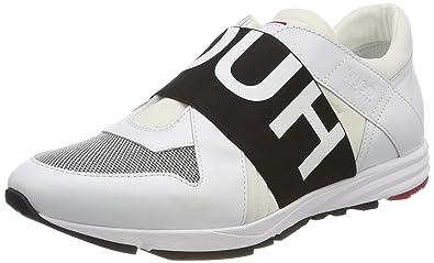 HUGO Damen Uptown Asya-L Slip on Sneaker, Weiß (White 100), 42 EU