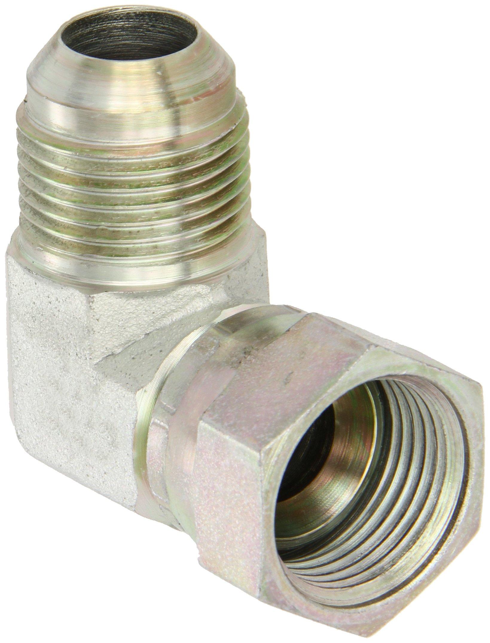 Eaton Aeroquip 2071-12-12S 90 Degree Swivel Nut Elbow, JIC 37 Degree End Types, Carbon Steel, 3/4 JIC(f) x 3/4 JIC(m) End Size, 3/4'' Tube OD by Aeroquip