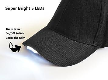 Amazon.com   UltraKey Hands Free LED Baseball Cap Light Glow Bright Women  Men Sport Hat Dark for Outdoor Jogging Breathable Snapback Hats Hip Hop  Party ... c9263e124c02