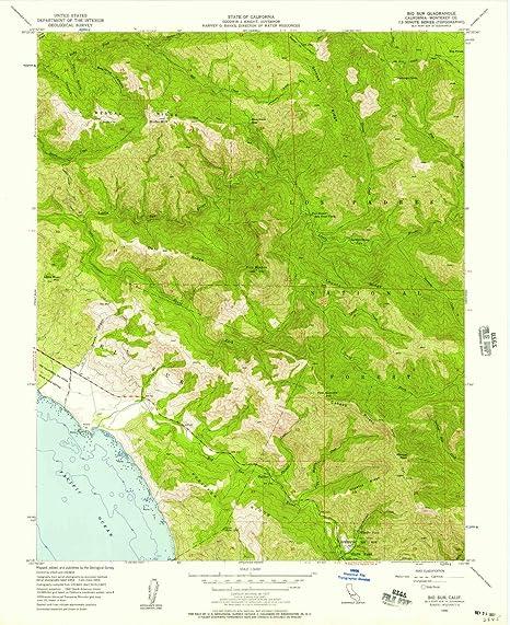 Amazon.com : YellowMaps Big Sur CA topo map, 1:24000 Scale ...