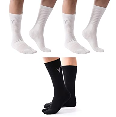 0373ac8b5 3 Pairs Combo Athletic Flip Flop Tabi Sports or Casual Wear Socks - Black    White