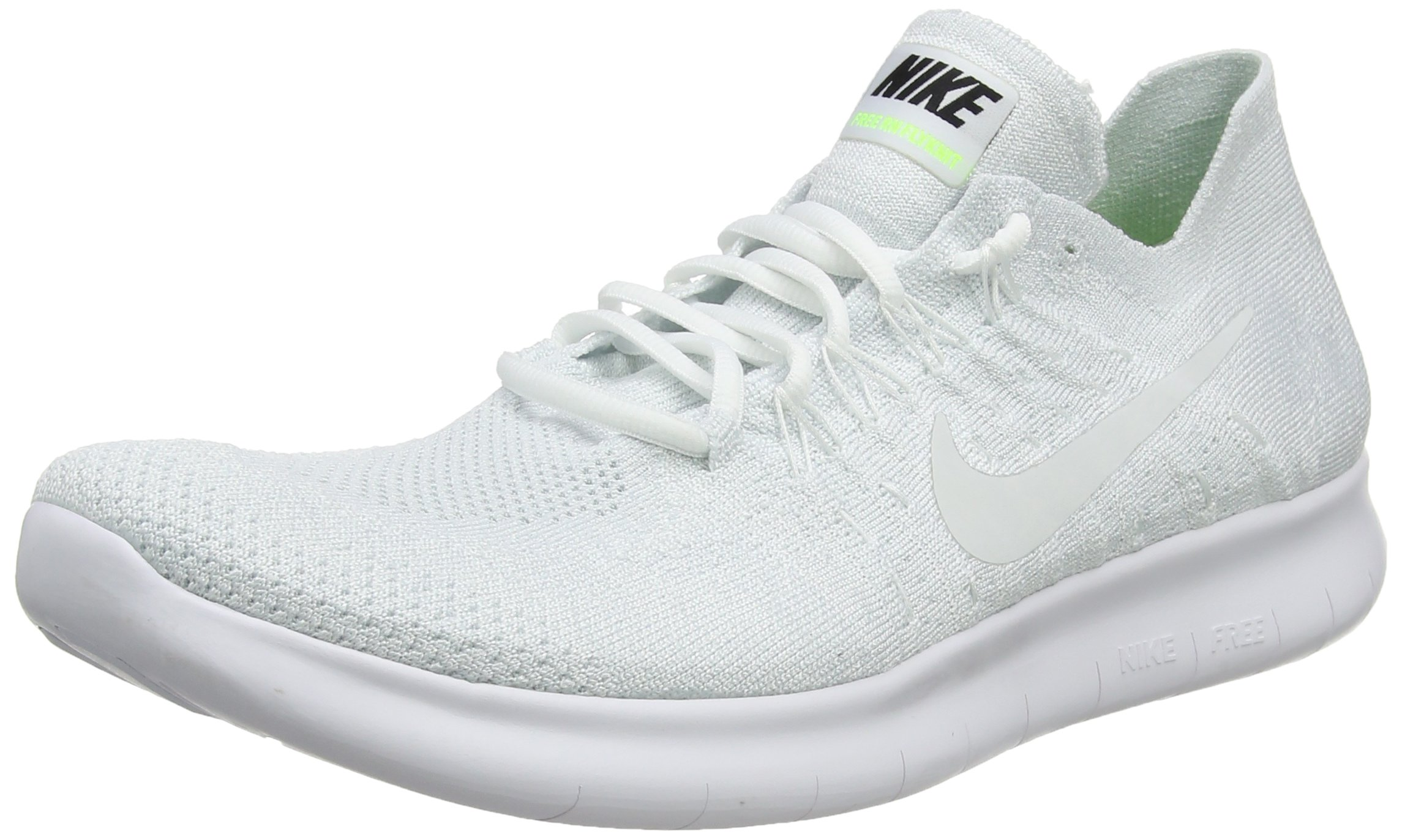 NIKE Men's Free RN Flyknit 2017 Running Shoe Light Carbon/Obsidian White/Pure Platinum 10 D(M) US