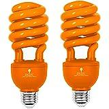 2 Pack BlueX CFL Orange Light Bulb 24W - 100-Watt