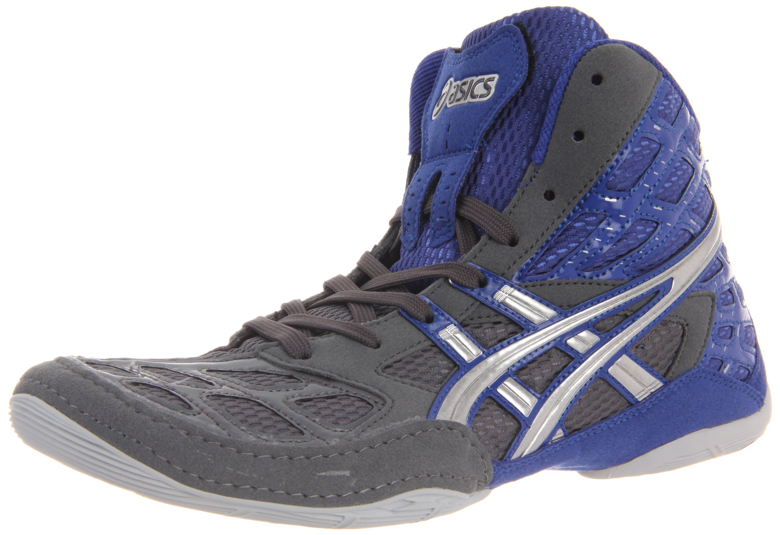 ASICS Men's Split Second 9 Wrestling Shoe,Graphite/Silver/Royal,10 M US